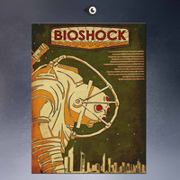 bioshock postersby sontyou Steampunk Art Print Wall Poster on canvas