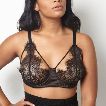 "Rebdolls ""Come Hither"" Caged Lace Bra – rebdolls"