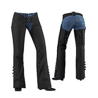 Women's Hella Leather Motorcycle Chaps - Cruiser Gear