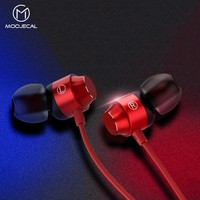 MOOJECAL 3.5mm Jack In-ear Earphone Wired Super Bass Sound Earbud with Mic for Mobile Phone Samsung Xiaomi MP3