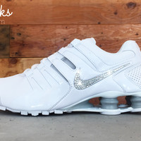 Nike Shox Current Glitter Kicks Running Shoes White/White