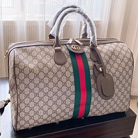 GUCCI Fashion New Stripe More Letter Print Leather Luggage Shoulder Bag Crossbody Bag Handbag
