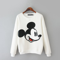 Cartoon Mouse Long Sleeve Pullovers Sweatshirt