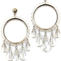 Clear Ball Statement Post Earrings