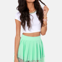 New Lace on Life Mint Green Lace Skirt