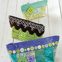 Cosmetic Bag, Change Purse, Wallet  Pattern,  Zippy Strippy by Terry Atkinson