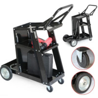 3-Tier Welding Cart Trolley Workshop Garage Storage Portable Wheels Accessories