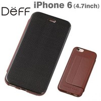 Strapya World : Deff Carbon Fiber Plus Genuine Leather Case for iPhone 6 (Brown)