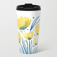 Cheerful Bouquet Metal Travel Mug by Noonday Design
