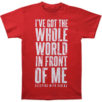 Sleeping With Sirens Men's  World T-shirt Red Rockabilia