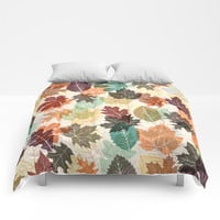 Autumn Leaves 2 Comforters by Fimbis