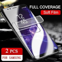 KISSCASE 6D HD Screen Protector For Samsung Galaxy S9 S8 Plus S7 Curve Edge Soft Hydrogel Screen Film For Samsung Note 9 8 Glass