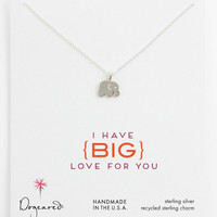 Dogeared 'Big Love for You' Elephant Pendant Necklace   Nordstrom