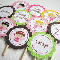 Fairy Cupcake Toppers for Girls Party from Adorebynat