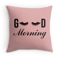 Good Morning Lashes Decor Pillow for Alyssa