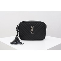 ysl women leather shoulder bag satchel tote bag handbag shopping leather tote crossbody satchel shouder bag 338
