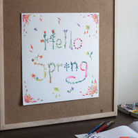 Celebrating Spring - Original Watercolor Art Painting - Hello Spring