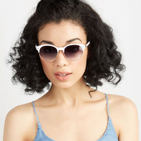 Urban Summertime Staple Sunglasses in White by ModCloth