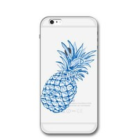 Blue Pineapple Cover Case for iPhone 7 7Plus & iPhone 6s 6 Plus & iPhone X 8 Plus with Gift Box