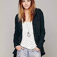 Free People  Hooded Scuba Jacket at Free People Clothing Boutique