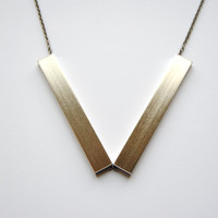 Silver Angle Necklace - Handmade Jewelry - Free Shipping in the US - Holiday Jewelry / Christmas Gifts