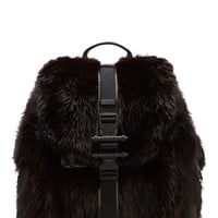 Givenchy Brown Fur And Black Leather Backpack