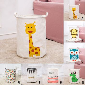 New Waterproof  Large Laundry Hamper Bag lovely animals Clothes Storage Baskets Home clothes barrel Bags kids toy storage laundr