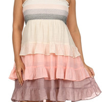 Make the Date Tiered Color Block Summer Dress-Plus-On Sale