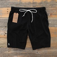 Mini Keys Cut Off Terry Shorts Black