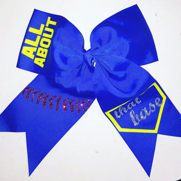 All About That Base Softball Hair Bow