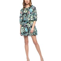 P.Blk/Trmlne Ever Ever After Floral Silk Dress by Juicy Couture,