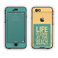 The Grungy Life Is Good At The Beach Apple iPhone 6 Plus LifeProof Nuud Case Skin Set