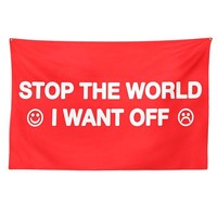 Stop The World Tapestry