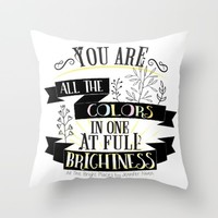 All The Bright Places by Jennifer Niven Book Quote Typography Throw Pillow by Evie Seo