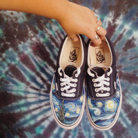 Handpainted Starry Night shoes