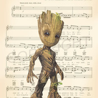 Baby Groot Guardians of the Galaxy Vol.2 Art Print