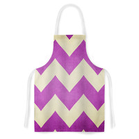 "Catherine McDonald ""Juicy"" Chevron Artistic Apron"