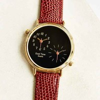 Double Time Classic Watch- Brown One