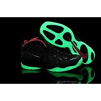 AIR FOAMPOSITE PRO BLACK/RED LUMINOUS SNEAKER SIZE 40--47