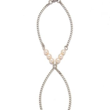 Pearl Anklet - Silver