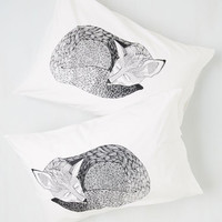 Woodland Creature Sly Rest My Case Pillowcase Set by ModCloth