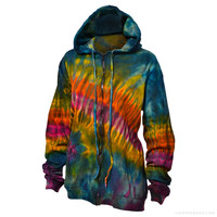 Nebula Tie Dye Zip Up Hoodie on Sale for $44.95 at The Hippie Shop