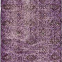 Hand-knotted Color Transition Violet Wool Area Rug
