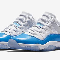 New Retro 11 Low University Blue And White Basketball Shoes Men 11s Low White Blue Athletics Sneakers With Shoes Box