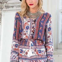 Staying Alive playsuit in multi print