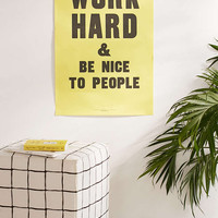 Anthony Burrill Work Hard And Be Nice To People Letterpress Poster - Urban Outfitters