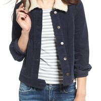 BP. Corduroy Jacket with Faux Shearling Collar | Nordstrom