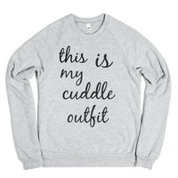 Cuddle Outfit-Unisex Heather Grey Sweatshirt
