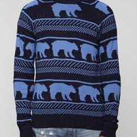 Character Hero Bear Stripe Sweater - Urban Outfitters
