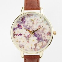 New Look Spring Floral Brown Watch